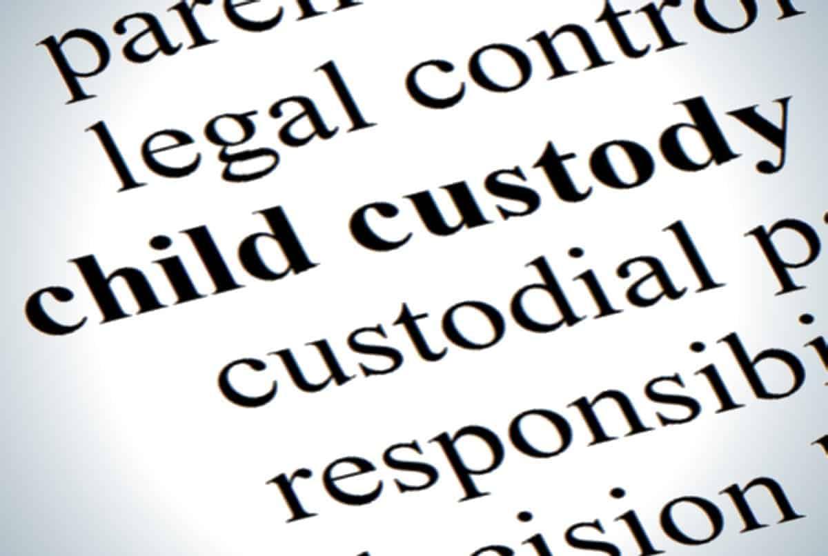 The definition of child custody.